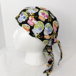 Accessories - Nurses OR Scrub Hat by Tawgear Skulls and Flowers